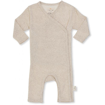 Konges Sløjd body, Newborn onesie - Caramel mini dots