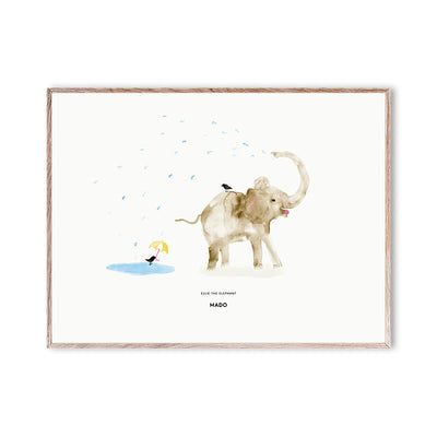 Mado plakat, Ellie the Elephant - 40 x 30 cm