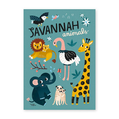 Michelle Carlslund plakat, Savannah animals - 30 x 40 cm