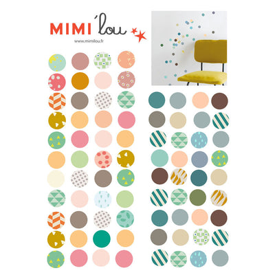 Mimi Lou wallsticker, mini sirkler