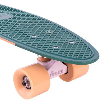 "Penny board 22"", skateboard til barn - Swirl greeen/yellow"