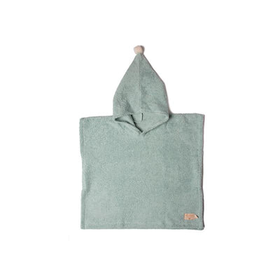Nobodinoz poncho, So Cute, 3-5 år - green