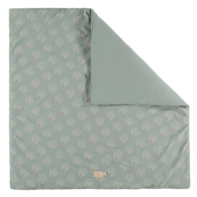Nobodinoz teppe 100 x 100 cm, Colorado, White Gatsby/antique green