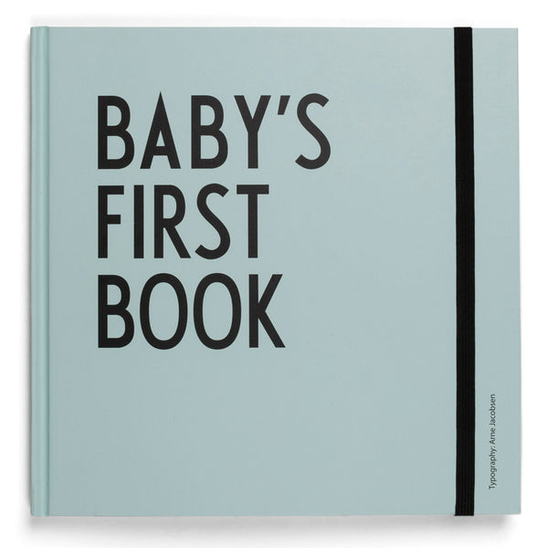 Design Letters babybok - Baby's first book turkis