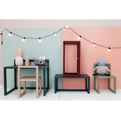 ferm Living barnebord, Little Architect Table - dark blue