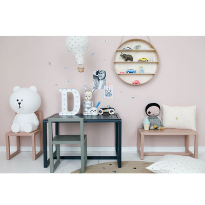ferm Living barnebenk, Little Architect Bench - rose