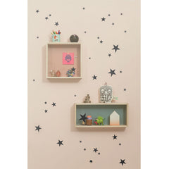 ferm Living wallsticker, Mini Stars - svart