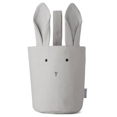 Liewood Ib fabric basket, Rabbit dumbo grey