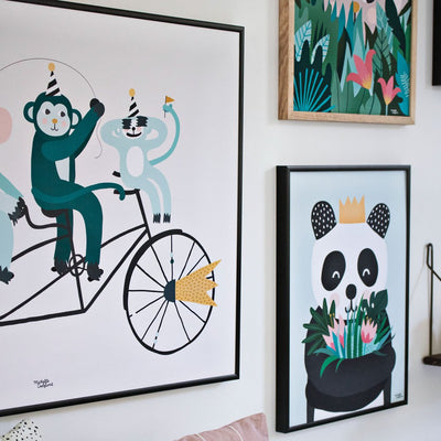 Michelle Carlslund plakat, Monkey Business - 30 x 40 cm