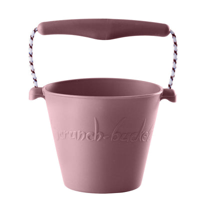 Scrunch-bucket, myk foldbar sandbøtte - dusty rose