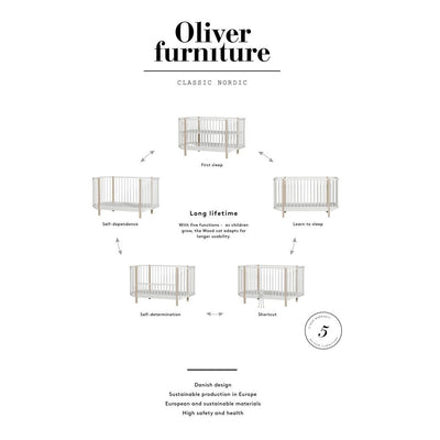 Oliver Furniture, Wood sprinkelseng - hvit NY