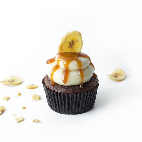 Banana Caramel Maple Cupcake