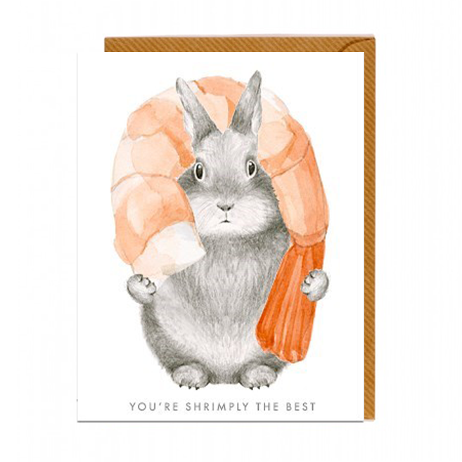 You're Shrimply The Best Card