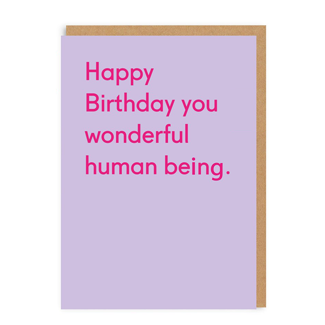 Wonderful Human Being Birthday Card