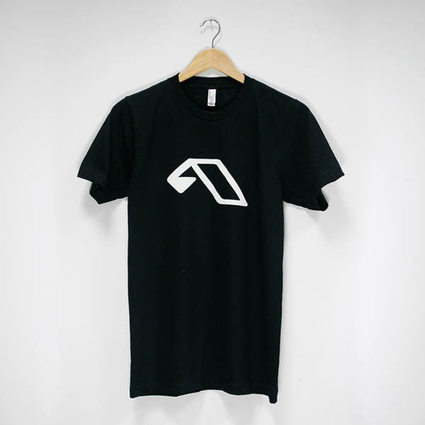 Mens White A Logo T-Shirt (Black)