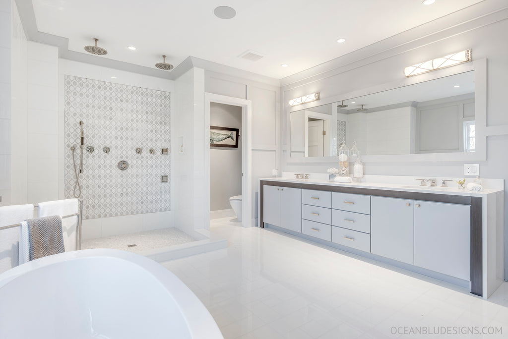 Ocean Blu Designs   New York Hamptons Bathroom Designs