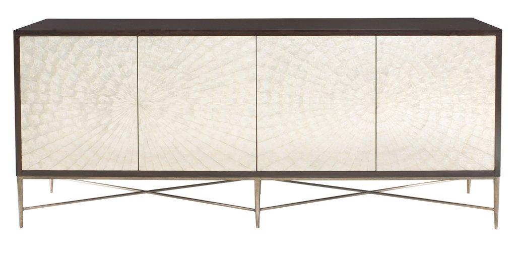 Adagio Buffet Table or Console Table - Gmelina Wood and Cadiz Sea Shell doors Finish