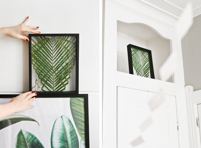 DIY Palm Leaf in a Frame