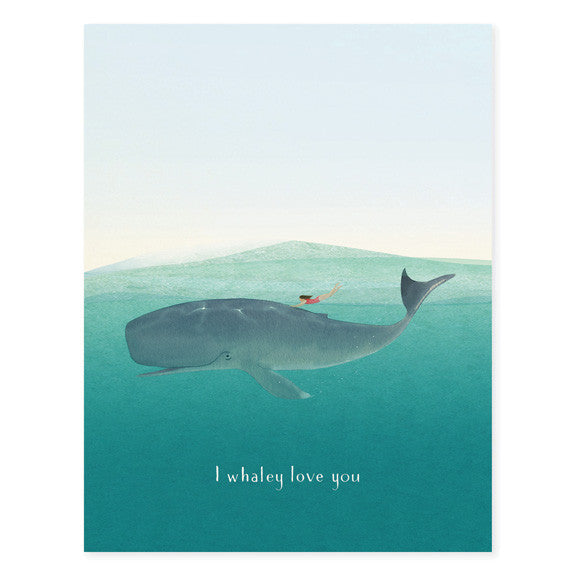 "OCCASSION CARD - WHALE RIDER ""I WHALEY LOVE YOU"""