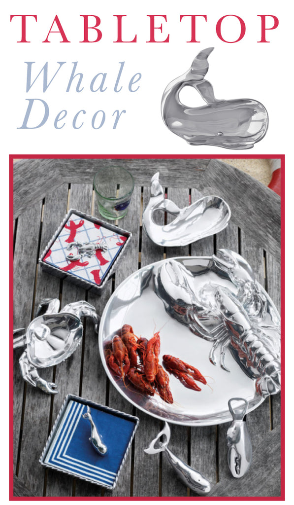 Adorable Coastal Design Accents - Tabletop Whale Decor and more...