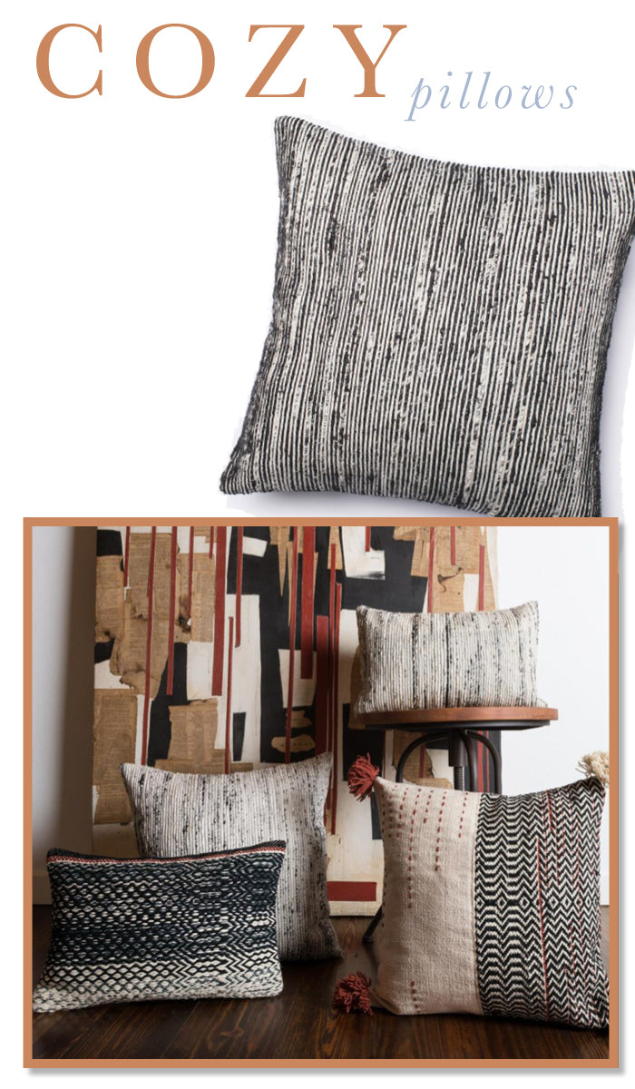 I love these Cozy Pillows for your home. Very chic and comfortable! found on www.oceanbludesigns.com