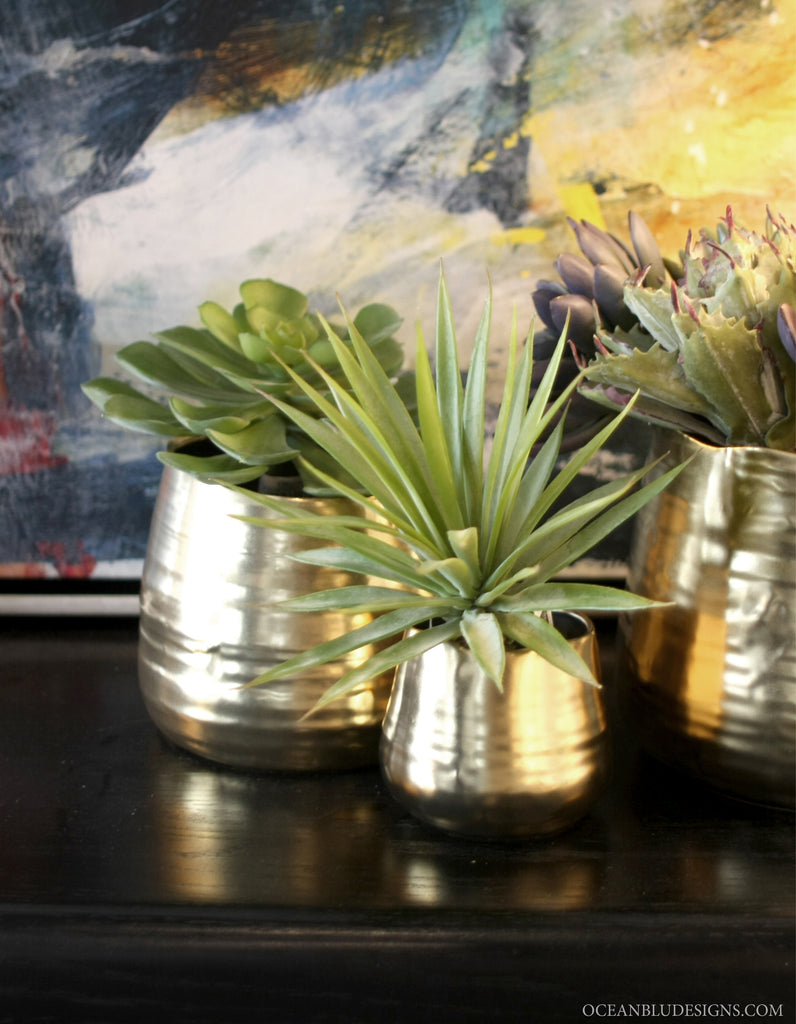 Gold Bowl Set - Coastal Decor on Oceanbludesigns.com
