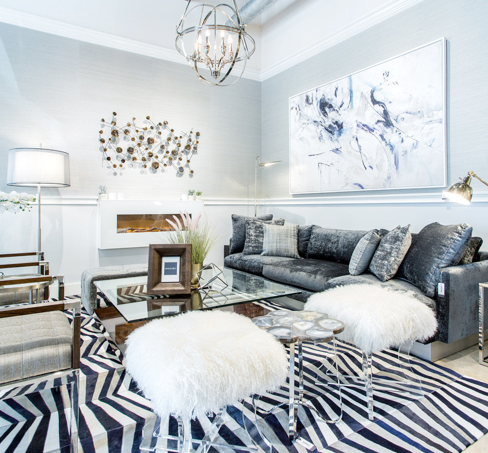 Castelluxe Handmade Cowhide Area Rugs at www.oceanbludesigns.com