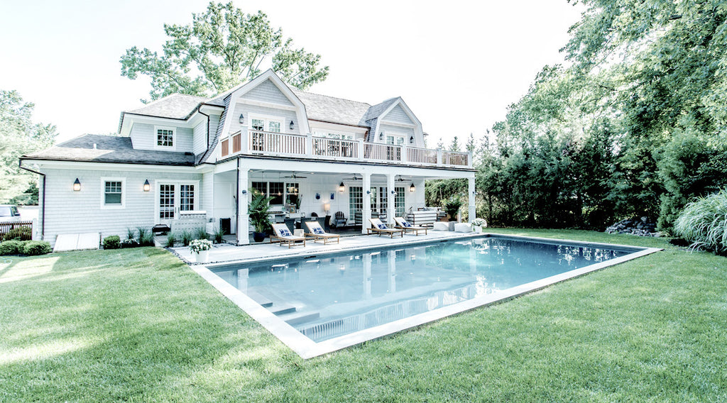 Outdoor In-ground Pool Designs - Ocean Blu Designs - Long Island - Hamptons - Montauk -