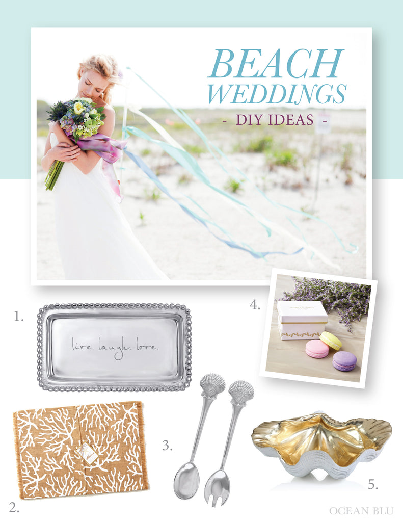 Ocean Blu Designs Beach Wedding DIY Ideas
