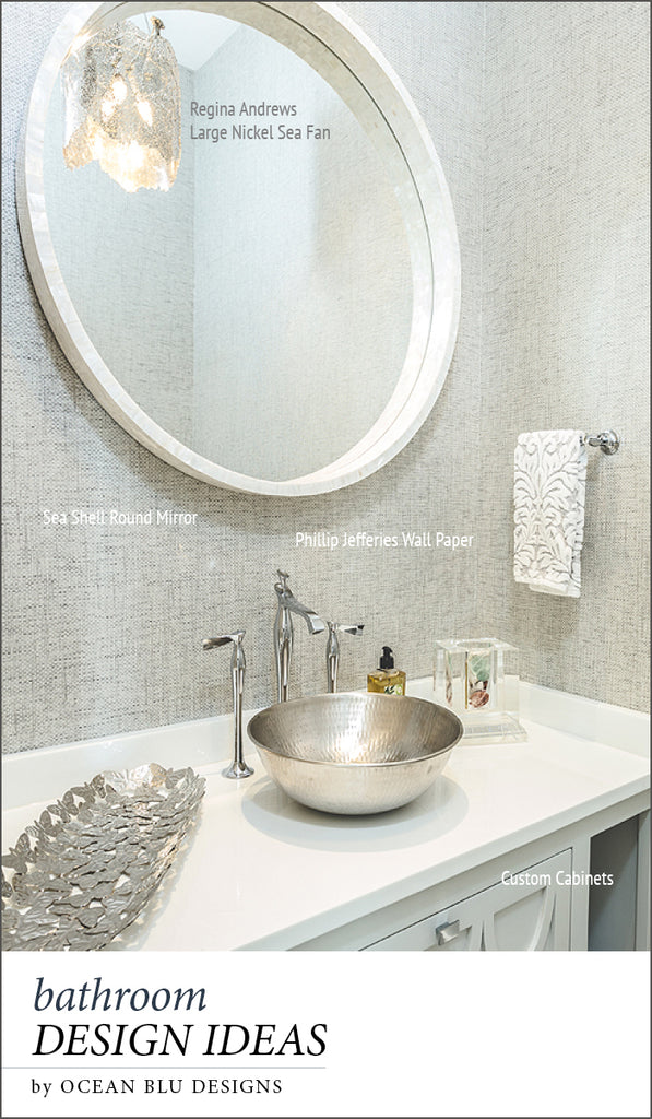 REPIN for Later! Bathroom Design Ideas for beach houses, hampton homes by Oceanbludesigns.com