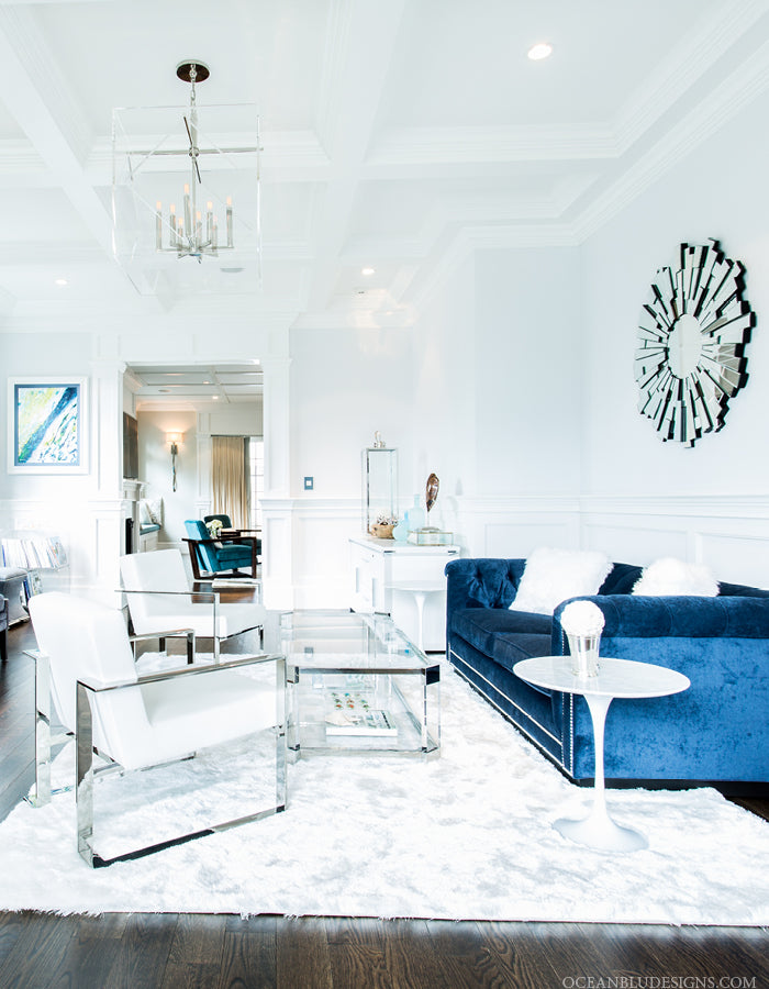 Ocean Blu Coastal Home Designs, New York  |  Living Room