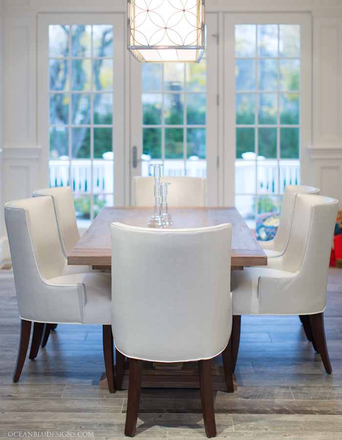Coastal Home Design Showcase - Long Island, NY | Kitchen Dining Room