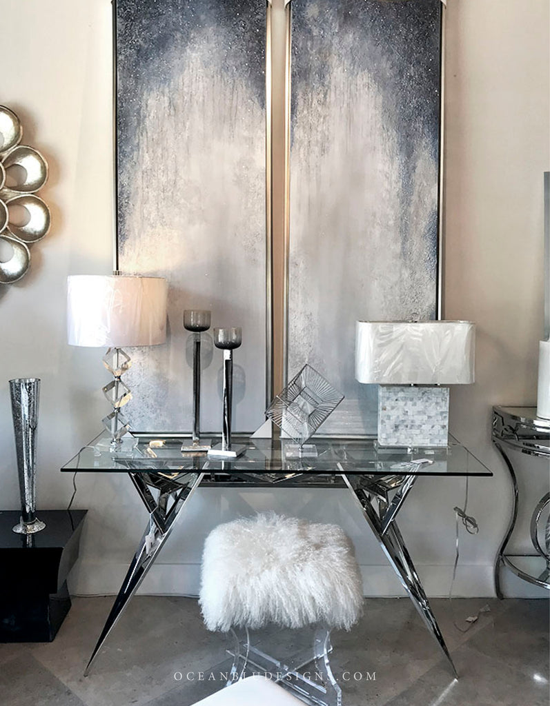 Ocean Blu Designs - Modern Luxury Home Decor and Furniture. Silver, Chrome, Nickel, Gold and more.