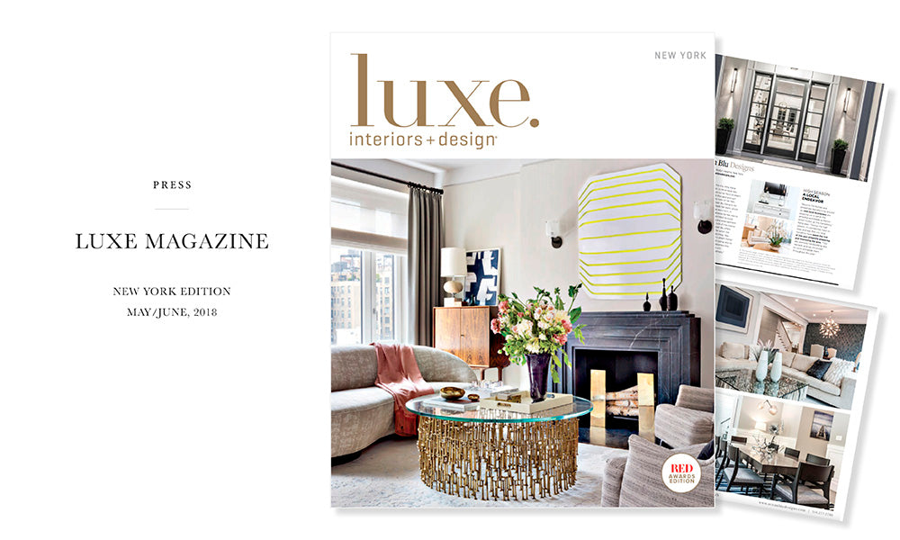 Ocean Blu Designs - Long Island's Best Coastal Modern Interior Designers in Luxe Magazine - Design Hamptons, 2018 New York Issue