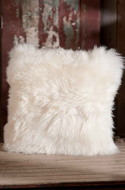REPIN! Super soft, real wool fur pillows! www.oceanbludesigns.com