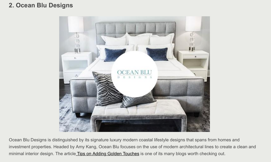 Top 50 Bedroom Interior Design Blogs Ocean Blu Designs