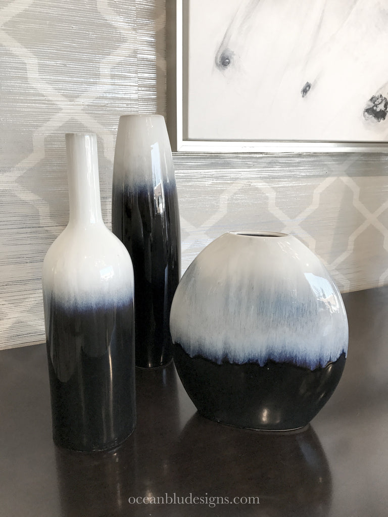 Ceramic Hand Painted Vases found on www.oceanbludesigns.com