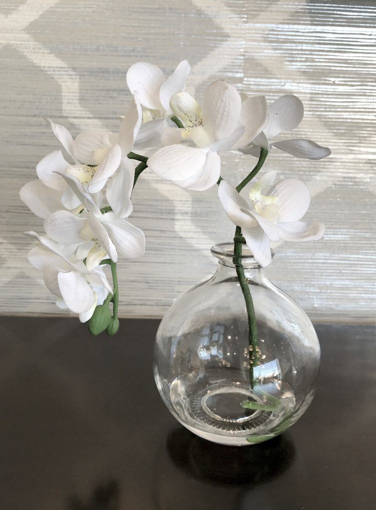 Orchid Flower in Glass Vase found at www.oceanbludesigns.com