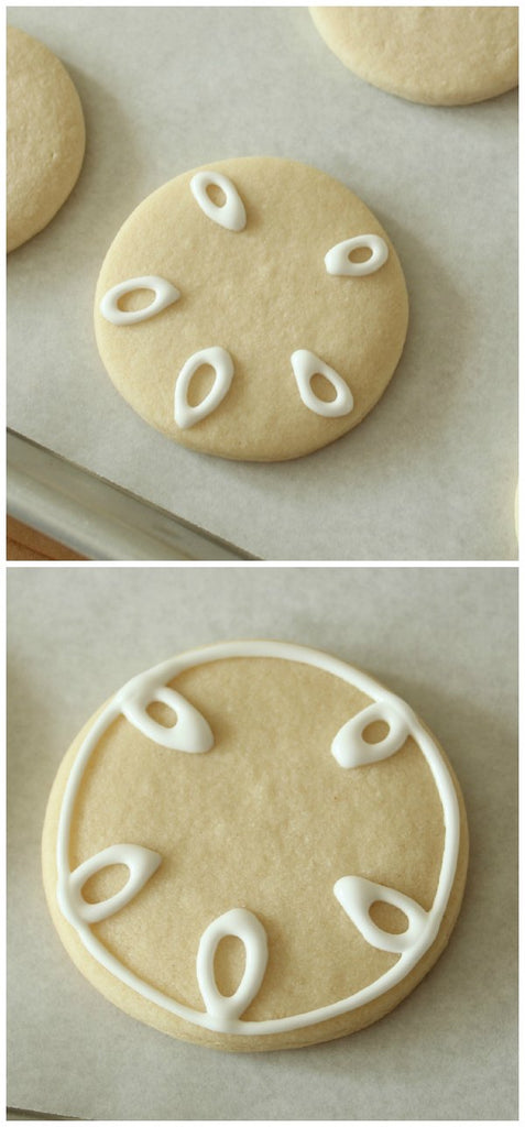 sand dollar decorated sugar cookies