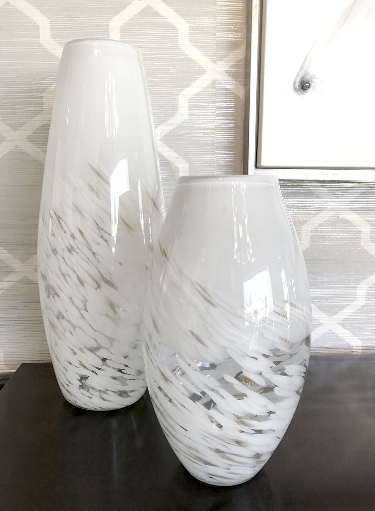 Gorgeous Handblown Glass Vases at www.oceanbludesigns.com
