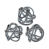 Glass Knot in Gray Art Sculptures
