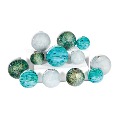 PRIMA Set of 12 Spheres in Tropical Tides, Driftstone, Stone Path