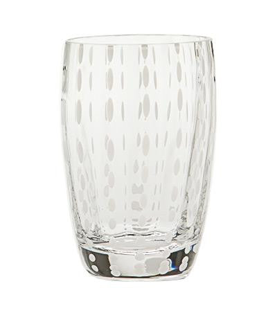 "ZAFFERANO ""PERLE"" Tumbler Beverage Glass 11 oz (Clear)"