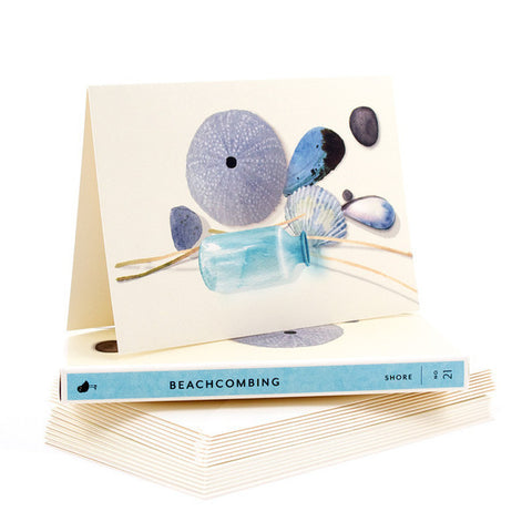 "Note Card Set - Shore Beachcombing ""Hello!"" (Box of 8)"