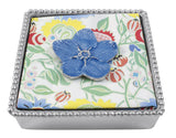 Blue Forget-Me-Not Cocktail Napkin Box set