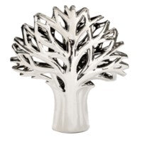 Metallic Silver Tree Sculpture
