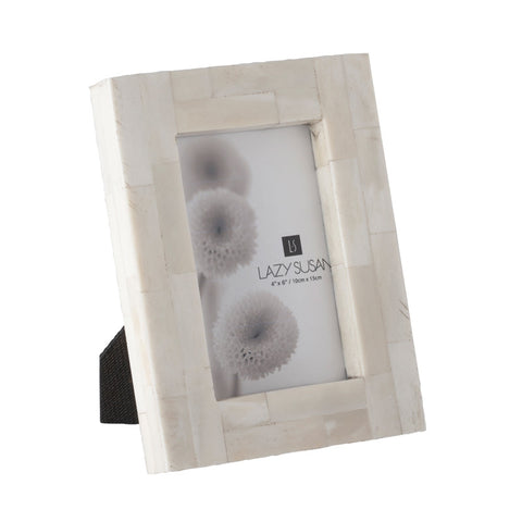 Cream Bone Block Photo Frame 4x6""