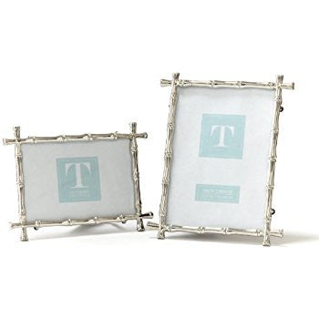 "Bamboo 5"" x 7"" Silver Photo Frame"