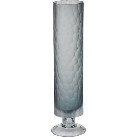 Frosted Glacier Tile Grey Vase