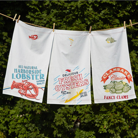 Seafood Shack Dish Towel - Assorted Designs